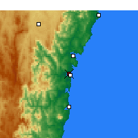 Nearby Forecast Locations - Moruya Airport - Map