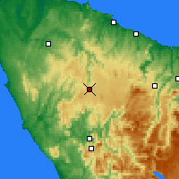 Nearby Forecast Locations - Waratah - Map
