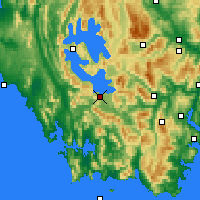 Nearby Forecast Locations - Scotts Peak - Map