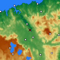 Nearby Forecast Locations - Launceston Airport - Map