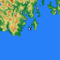 Nearby Forecast Locations - Cape Bruny - Map