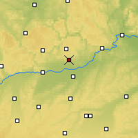 Nearby Forecast Locations - Kösching - Map