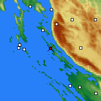 Nearby Forecast Locations - Novalja - Map