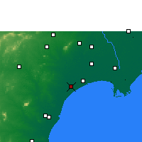 Nearby Forecast Locations - Chirala - Map