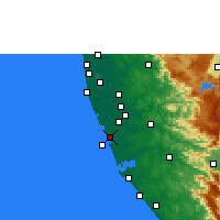 Nearby Forecast Locations - Kayamkulam - Map