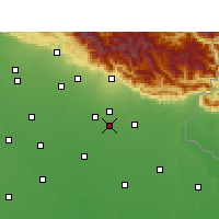 Nearby Forecast Locations - Kichha - Map