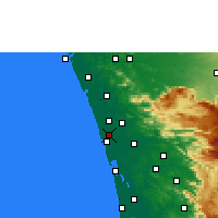 Nearby Forecast Locations - Kodungallur - Map