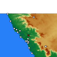 Nearby Forecast Locations - Mattanur - Map