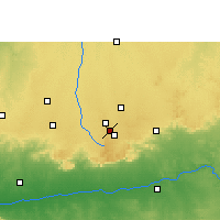 Nearby Forecast Locations - Mhowgaon - Map