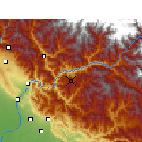 Nearby Forecast Locations - Pauri - Map
