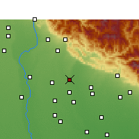 Nearby Forecast Locations - Sherkot - Map