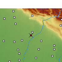 Nearby Forecast Locations - Yamunanagar - Map