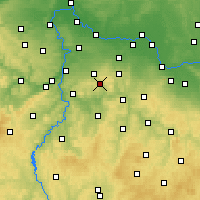 Nearby Forecast Locations - Mnichovice - Map