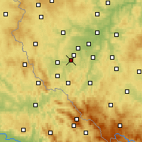Nearby Forecast Locations - Staňkov - Map