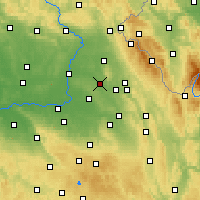 Nearby Forecast Locations - Týniště nad Orlicí - Map