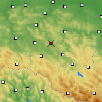 Nearby Forecast Locations - Brzozów - Map