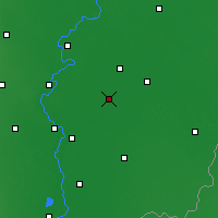 Nearby Forecast Locations - Szarvas - Map