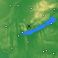 Nearby Forecast Locations - Tapolca - Map