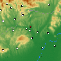 Nearby Forecast Locations - Edelény - Map