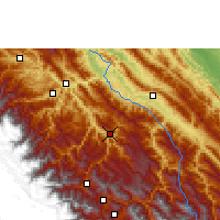 Nearby Forecast Locations - Caranavi - Map