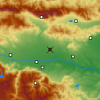 Nearby Forecast Locations - Rakovski - Map