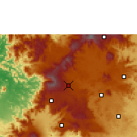 Nearby Forecast Locations - Mbouda - Map