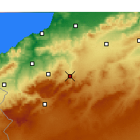 Nearby Forecast Locations - Ouled Mimoun - Map