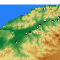 Nearby Forecast Locations - Oued Rhiou - Map