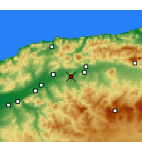 Nearby Forecast Locations - Oued Fodda - Map