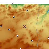 Nearby Forecast Locations - El Aouinet - Map