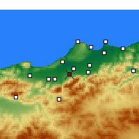 Nearby Forecast Locations - Béni Mered - Map
