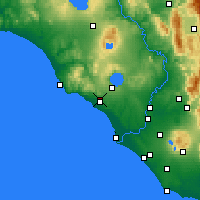 Nearby Forecast Locations - Cerveteri - Map