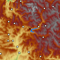 Nearby Forecast Locations - Chorges - Map