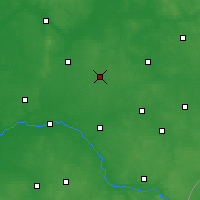 Nearby Forecast Locations - Wysokie Mazowieckie - Map
