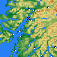 Nearby Forecast Locations - Loch Linnhe - Map