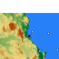 Nearby Forecast Locations - Fourmile Beach - Map