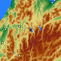Nearby Forecast Locations - Lake Rotoroa - Map