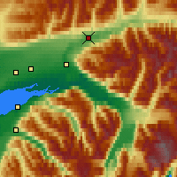 Nearby Forecast Locations - Sutton-Alpine - Map