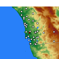 Nearby Forecast Locations - San Diego AP/M - Map