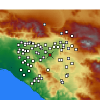 Nearby Forecast Locations - Riverside - Map