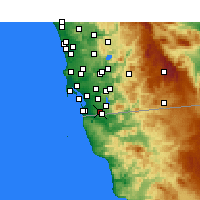 Nearby Forecast Locations - San Diego AP/B - Map