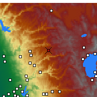 Nearby Forecast Locations - Blue Canyon - Map
