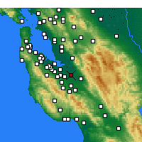 Nearby Forecast Locations - San Jose - Map