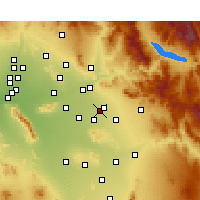Nearby Forecast Locations - Mesa AFB - Map
