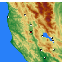 Nearby Forecast Locations - Ukiah - Map