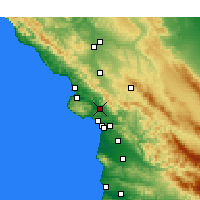 Nearby Forecast Locations - San Luis Obispo - Map
