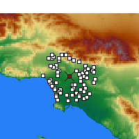 Nearby Forecast Locations - L.Angel. City - Map