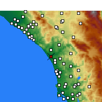 Nearby Forecast Locations - Oceanside - Map