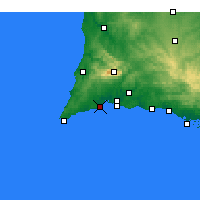 Nearby Forecast Locations - Lagos - Map