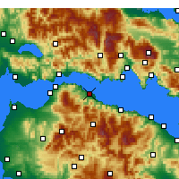 Nearby Forecast Locations - Aigio - Map